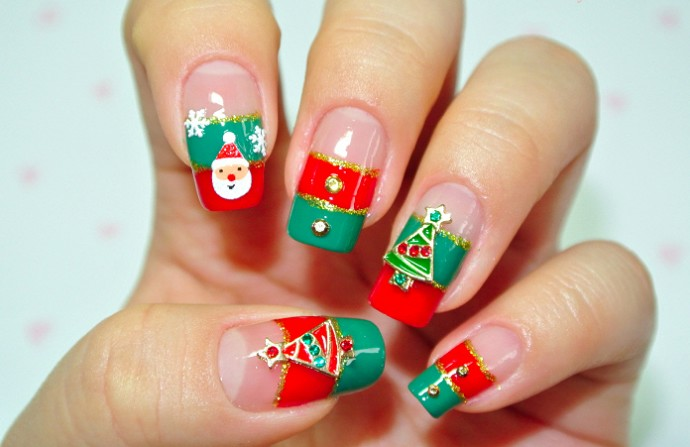 Christmas nail art designs pictures best nails 2018 55 most stylish christmas nail art prinsesfo Images