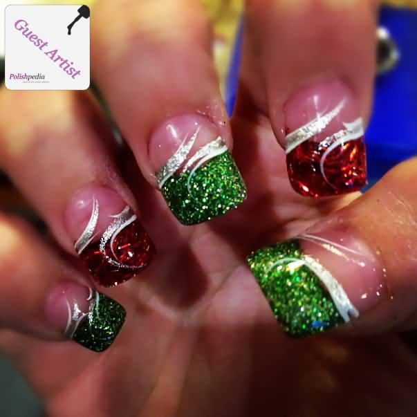 red and green sparkles - photo #48