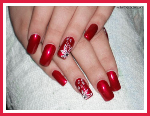 Toe nail designs red and white flower toe nail designs design toe nail designs red and white most beautiful red and white nail art design ideas prinsesfo Images