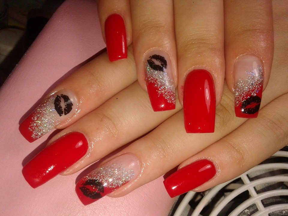 Nail designs on red nails image collections nail art and nail 50 most  beautiful red nail - Nail Designs On Red Nails Gallery - Nail Art And Nail Design Ideas