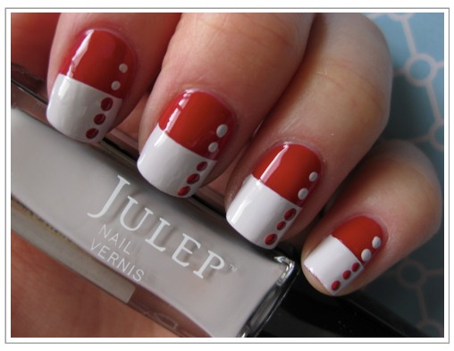 Nail art design with red and white shiny red and white nails other image of nail art design with red and white prinsesfo Images