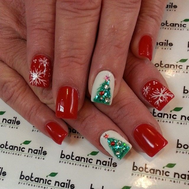 Christmas Nails Red And White: 55+ Most Stylish Christmas Nail Art