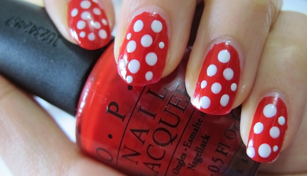 Nail Polish Design Red And White Absolute Cycle