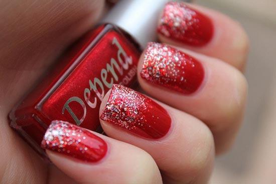 Red Glitter Nail Art - 67 Best Red Nail Art Design Ideas