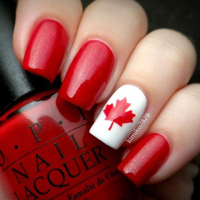 45+ Most Beautiful Flags Nail Art Design Ideas
