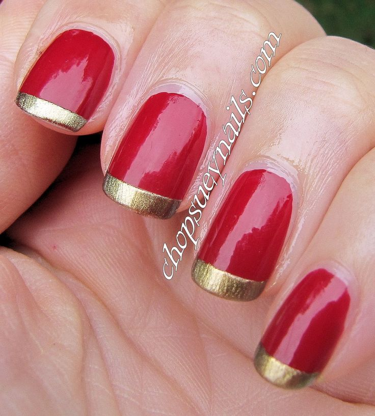 Red And Gold Nail Designs Graham Reid
