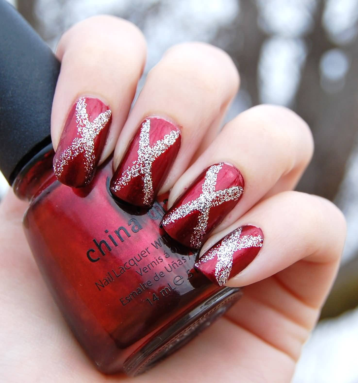 Amazing Cross Design On Nails Vignette - Nail Art Ideas - morihati.com