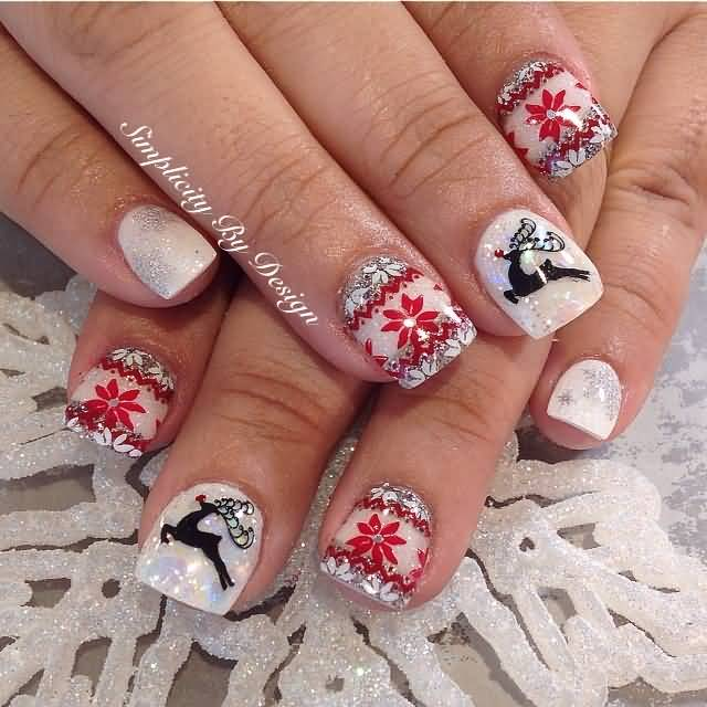 Reindeer nail art images nail art and nail design ideas 55 most stylish christmas nail art red snowflakes and reindeer christmas nail art prinsesfo images prinsesfo Images