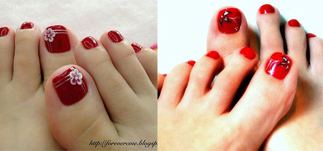 58 incredible red toe nail art design ideas for trendy girls red toe nail art prinsesfo Gallery