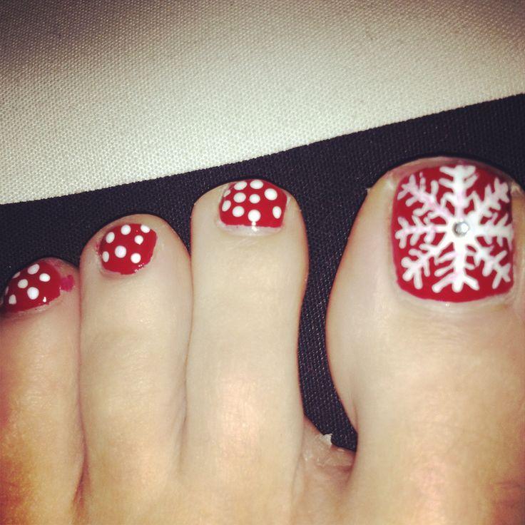 Christmas Toe Nail Art Tutorial: 40 Most Beautiful Christmas Nail Art Ideas For Toe Nails