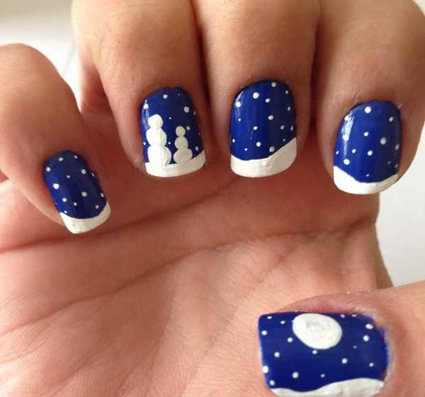 Easy Christmas Nail Art: 50 Christmas Nail Art Ideas