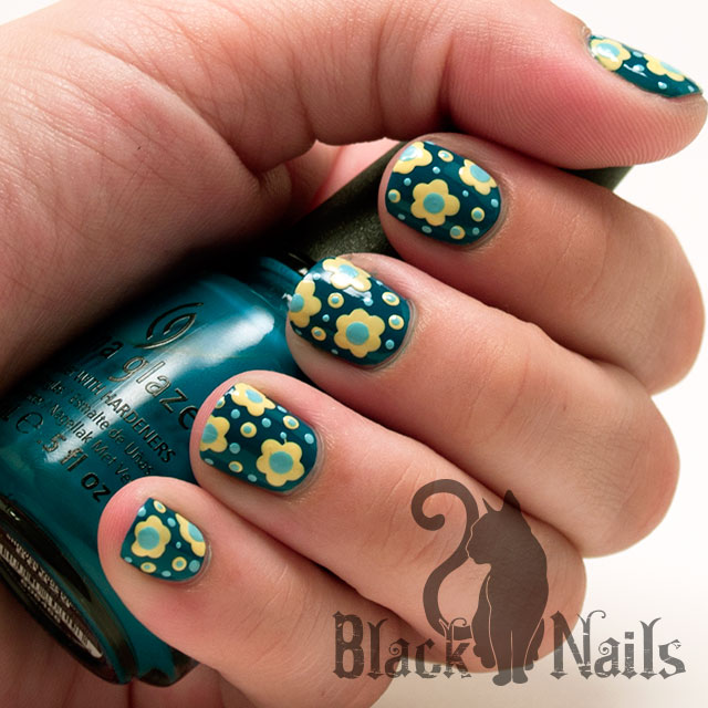 52 Latest Yellow And Blue Nail Art Designs