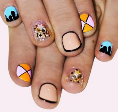 40 elegant short nail art design ideas short geometric nail art design prinsesfo Image collections