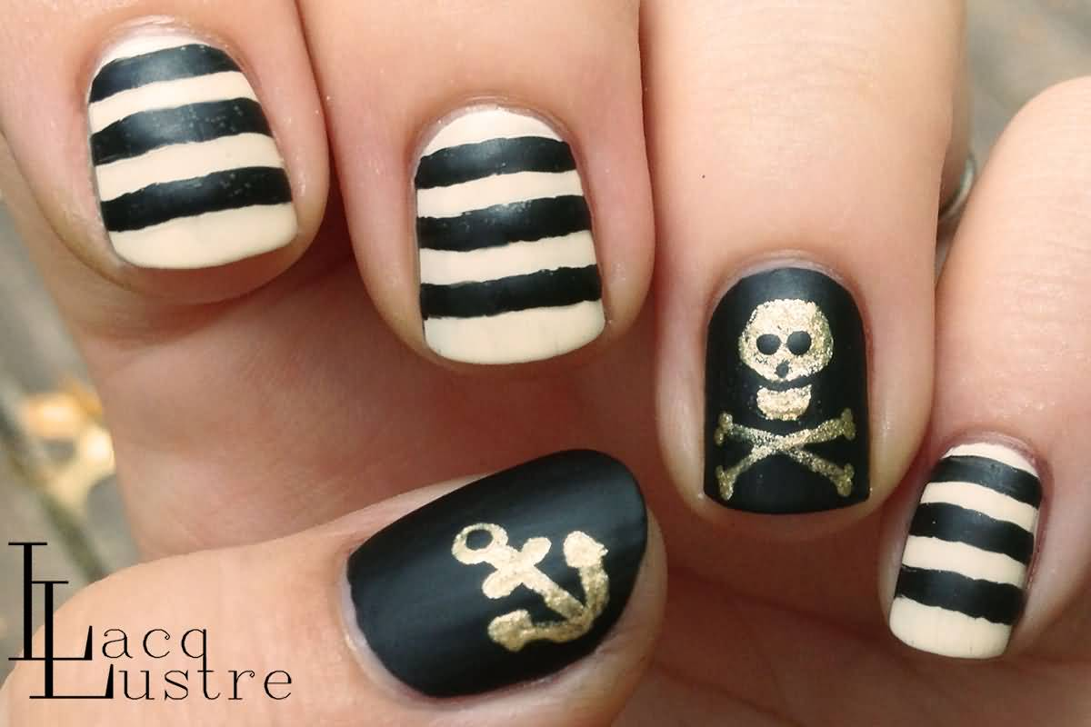 Nail Art Skull Gallery - easy nail designs for beginners step by step