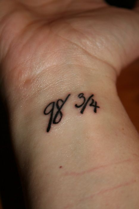 30+ Number Tattoos For Wrists