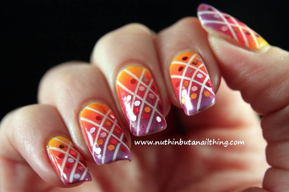 21 Most Beautiful Striping Tape Nail Art Ideas For Trendy Girls