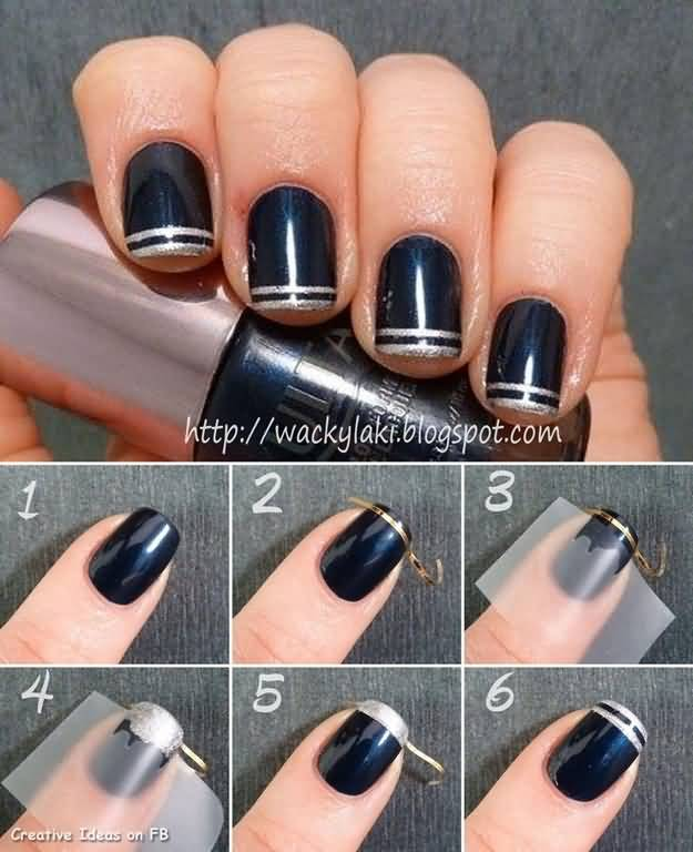 21 most beautiful striping tape nail art ideas for trendy girls striping tape nail art tutorial prinsesfo Image collections