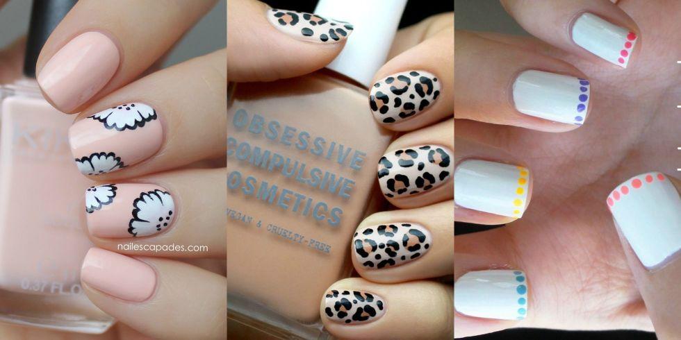 Three Beautiful Short Nail Art Design Ideas