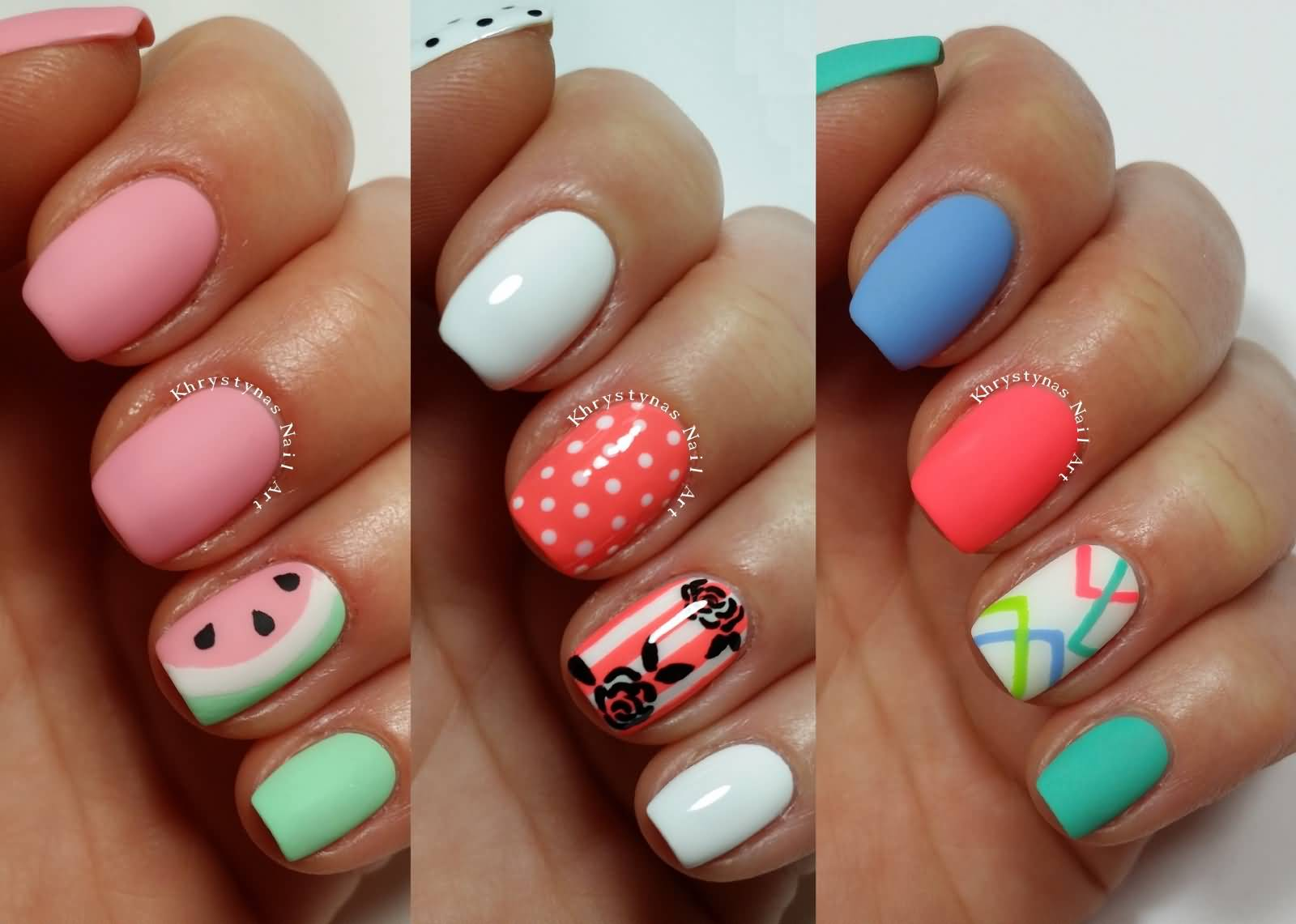 Three easy nail art design for short nails with tutorial video prinsesfo Image collections