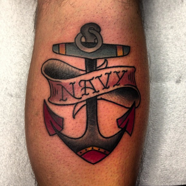 navy anchor tattoos designs