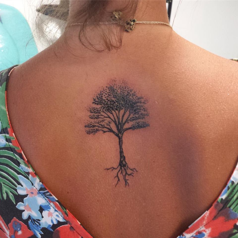 4d33770fe Tree Tattoo On Upper Back by Gutti Canvasink Madellin