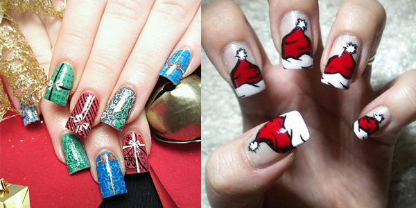 Two Beautiful Christmas Nail Art Design Idea - 50 Christmas Nail Art Ideas