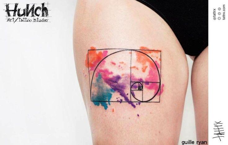 Fibonacci Spiral Tattoo: 66+ Latest Spiral Tattoos