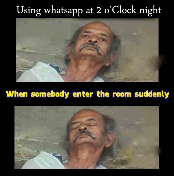 Whatsapp Using In Night Funny Expressions