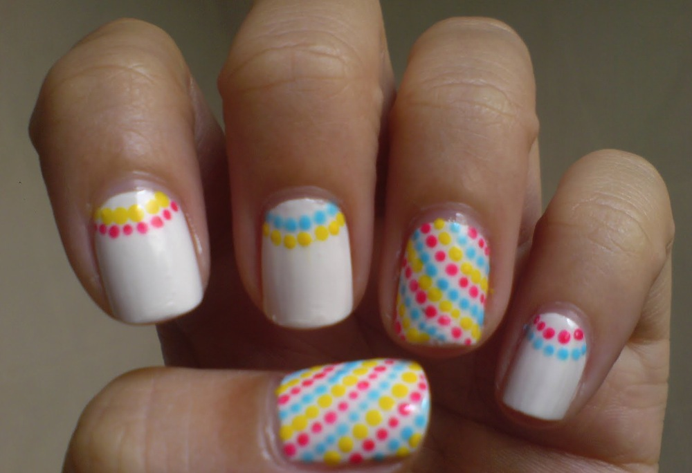Nail Art Designs With White Base Hession Hairdressing