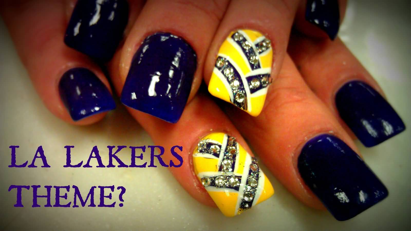 Yellow And Blue Nail Art With Tutorial Video