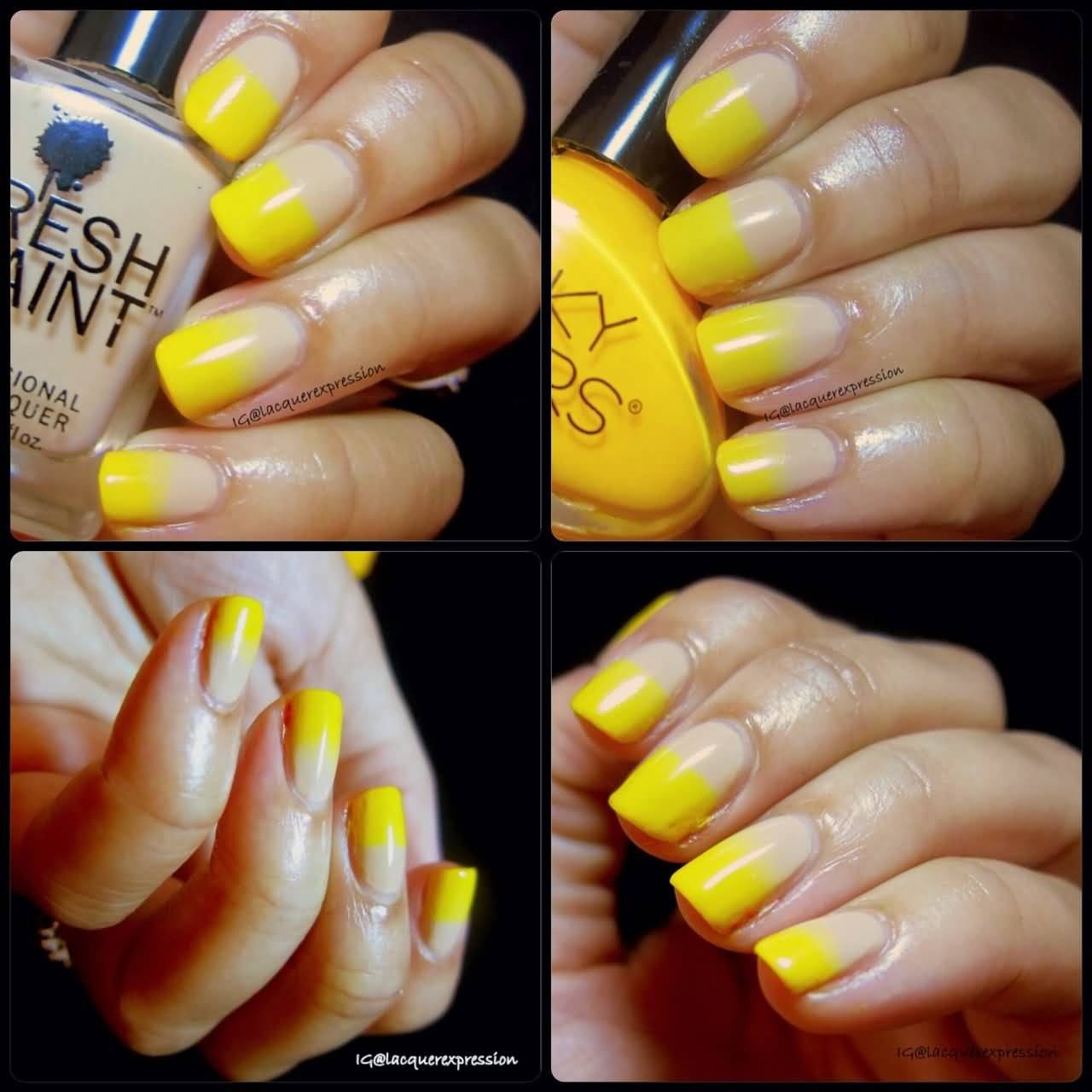 Yellow Designs For Nails