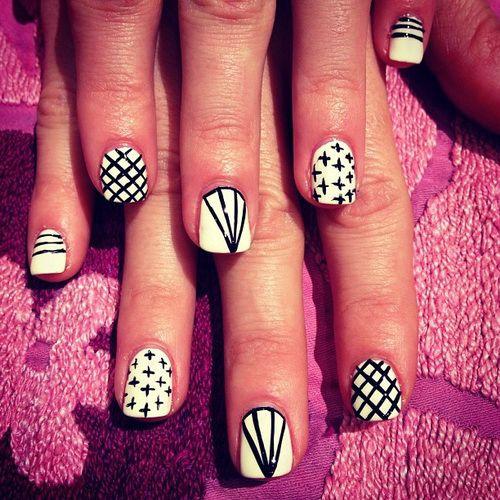 Nail Designs For Short Nails Pink And Black