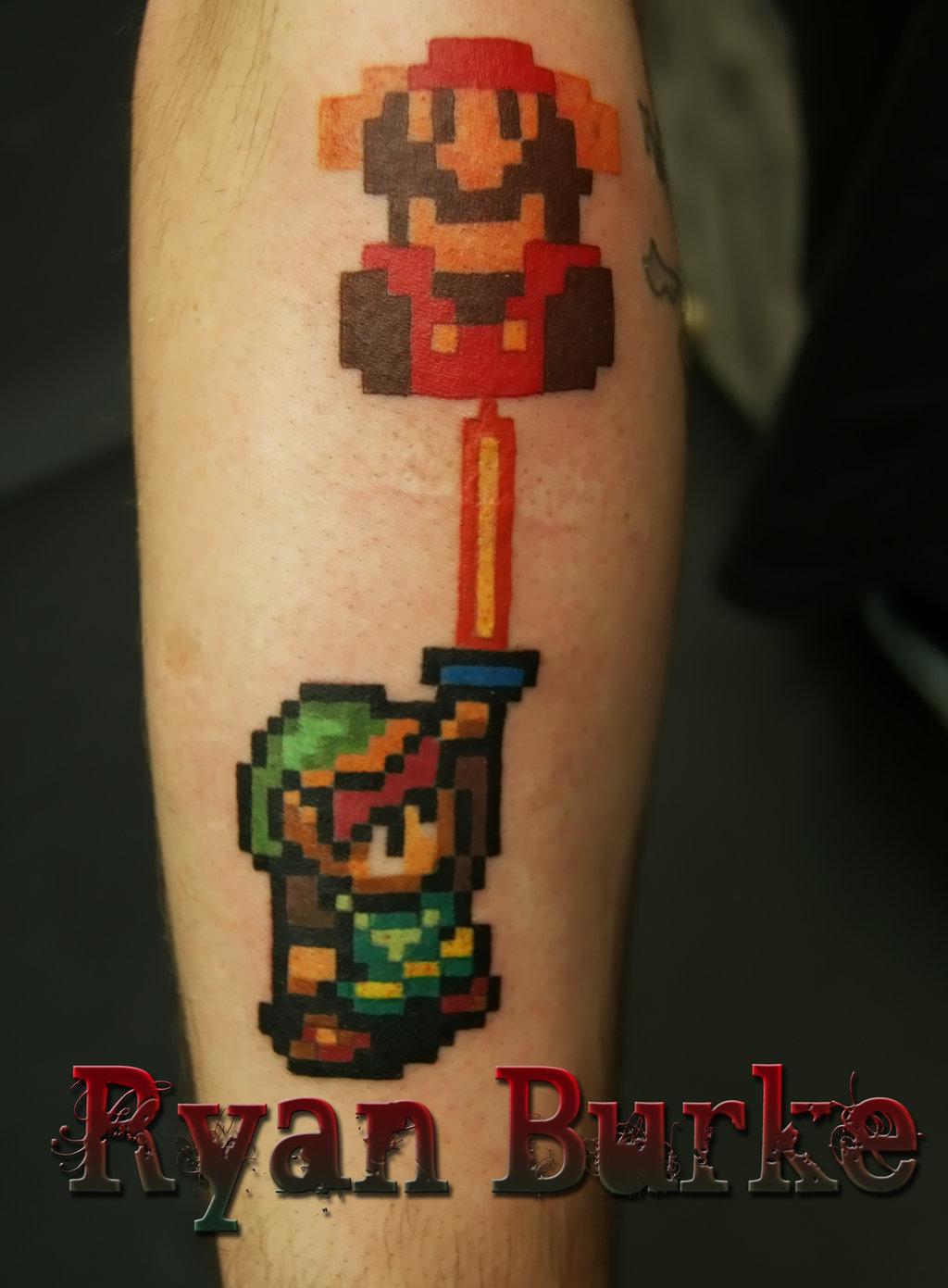 11 Mario Tattoo Designs
