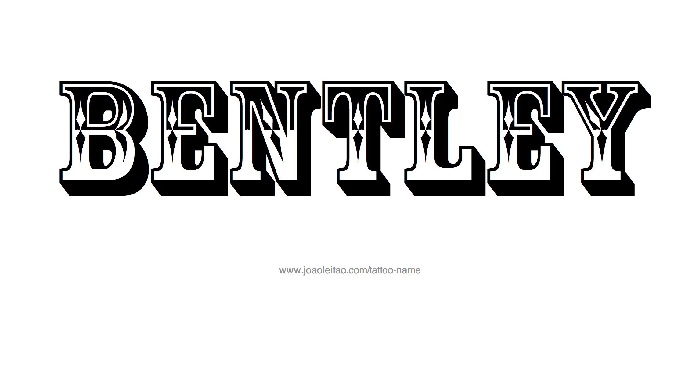 0dc875616 Attractive Bentley Name Tattoo Design