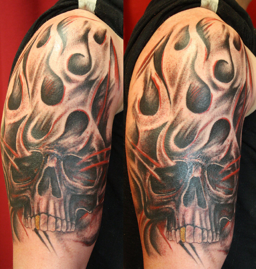 30+ Flame Tattoo Design Stencils