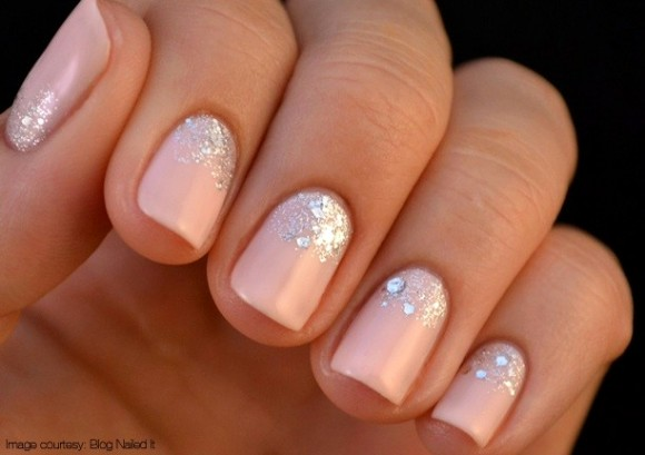 70 most stylish glitter gradient nail art ideas baby pink and silver glitter gradient nail art prinsesfo Gallery