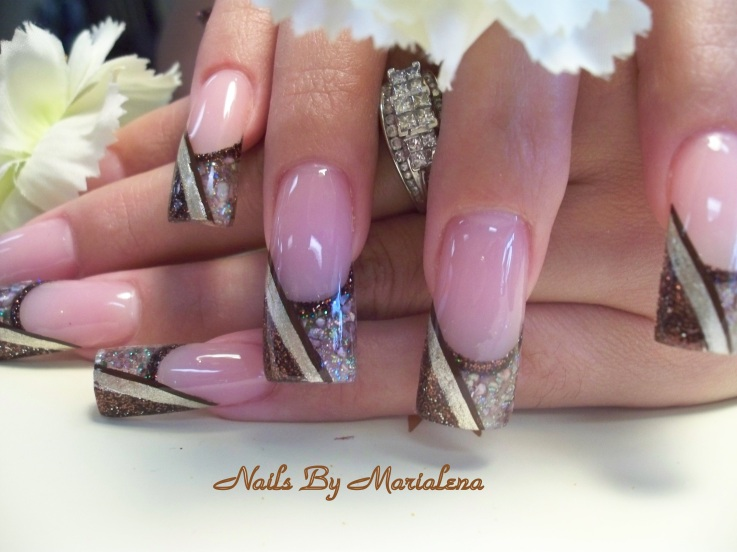 55 stylish brown nail art ideas baby pink nails with chocolate brown tip design nail art prinsesfo Image collections