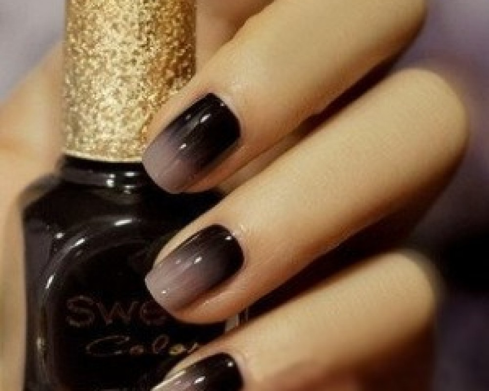 Beige and black gradient nail art prinsesfo Image collections