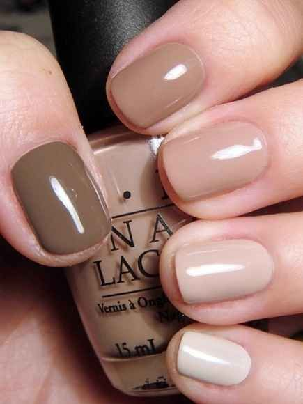 Beige and brown nail art prinsesfo Images