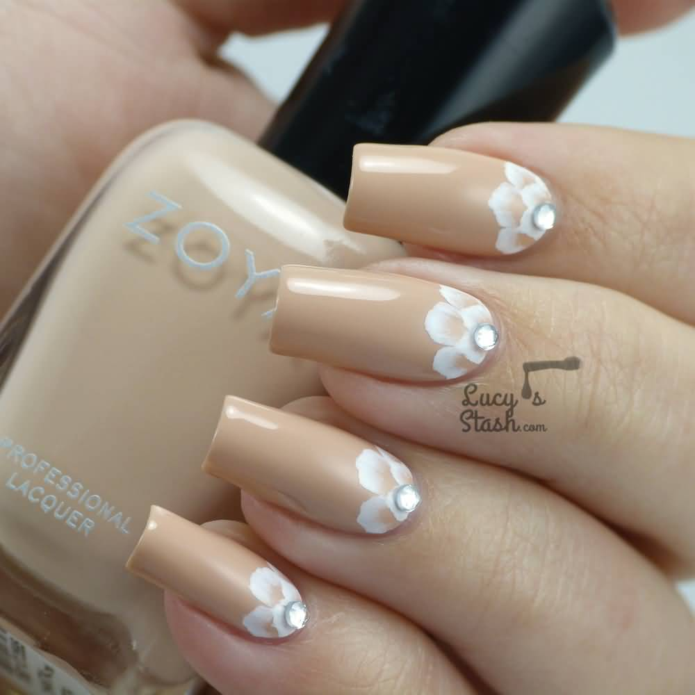 Nail art designs beige nailarts ideas view images most beautiful beige nail art design ideas prinsesfo Image collections