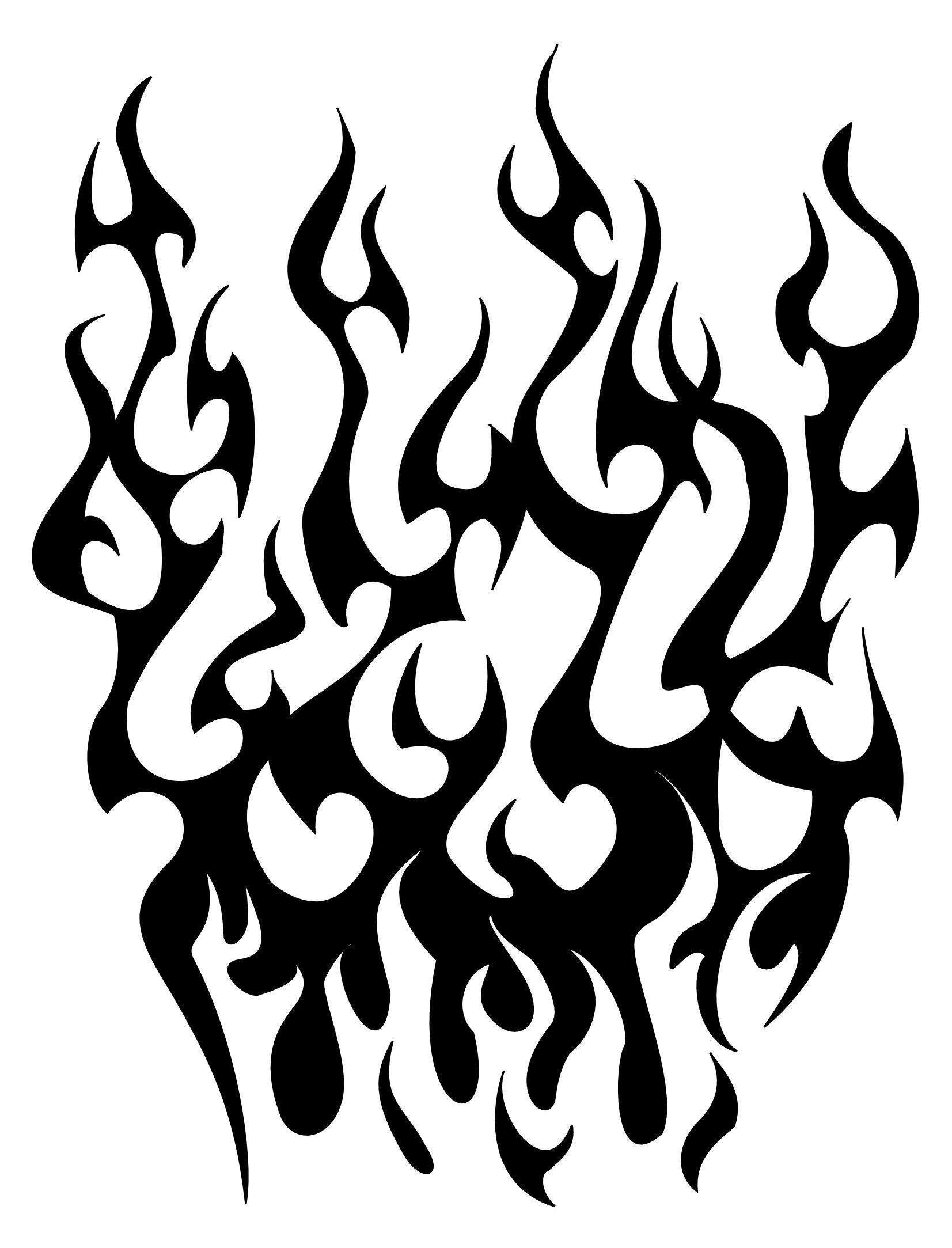 15 flame tattoo designs and ideas for Black and white flame tattoo