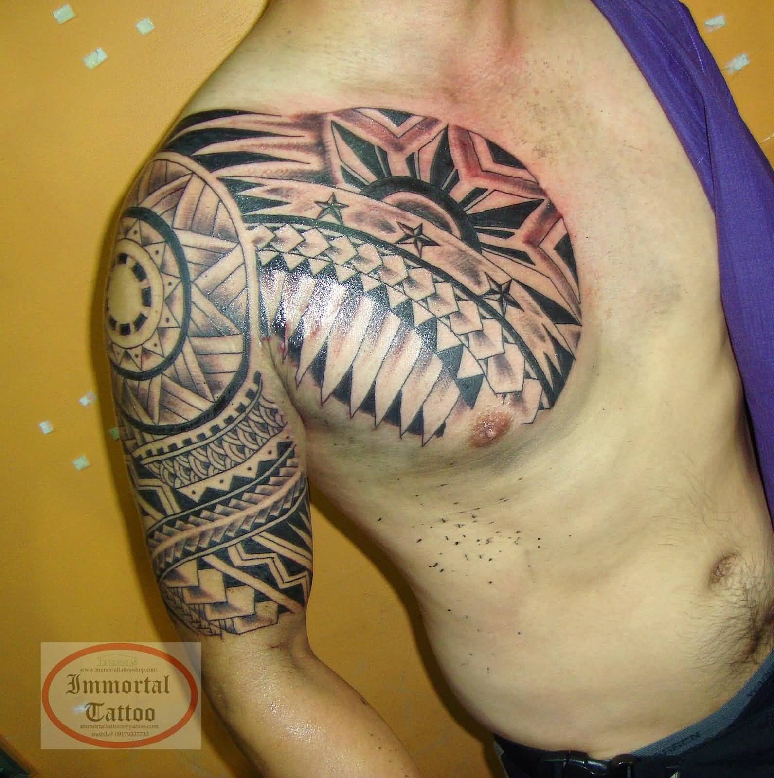 38642bd4e Brilliant Filipino Tribal Tattoo On Right Half Sleeve