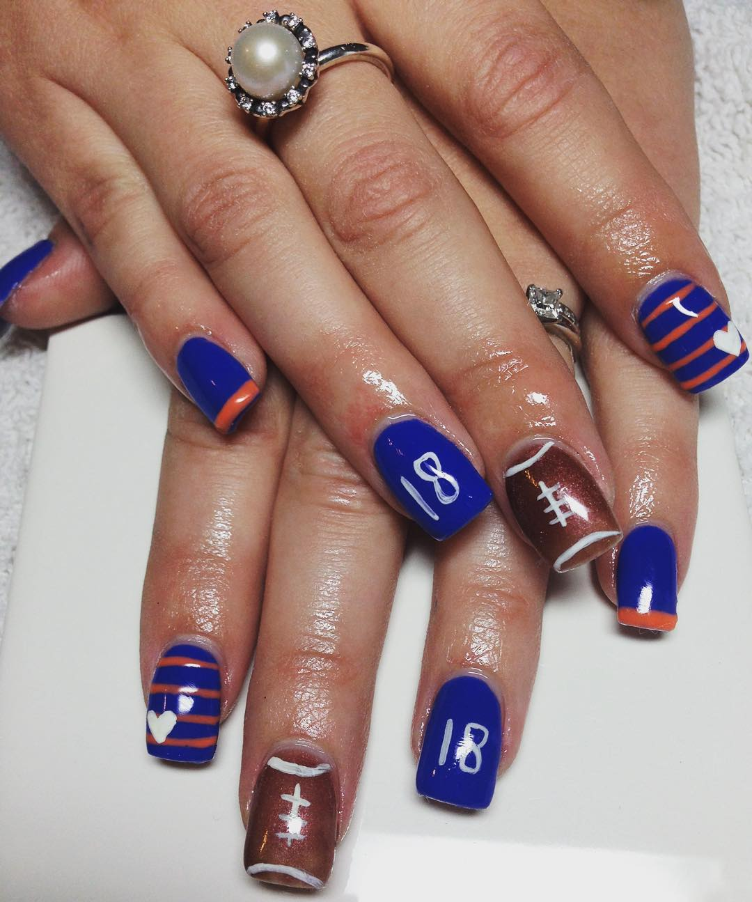 15 best brown and blue nail art designs