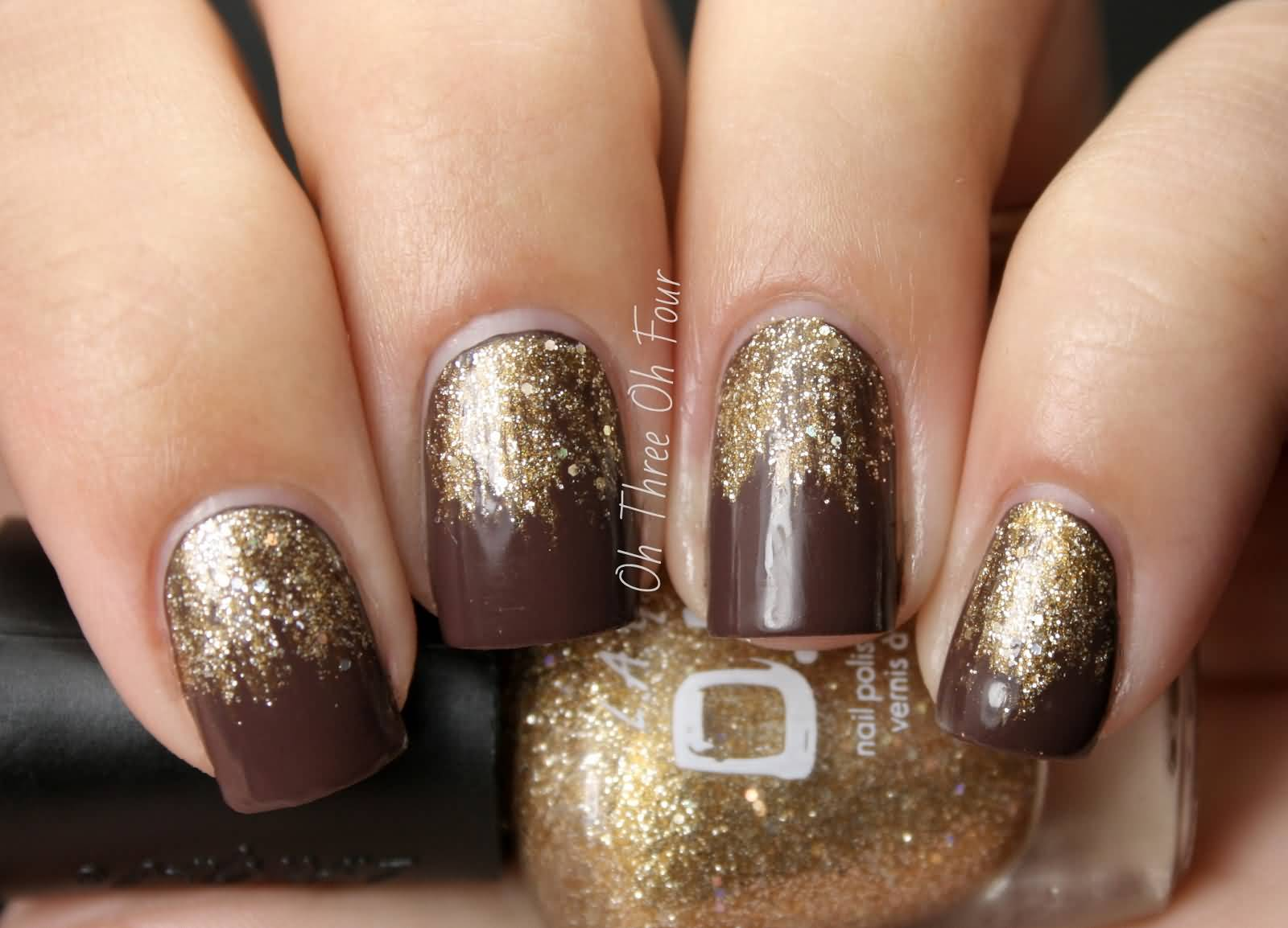 brown glitter nail designs - aol image search results