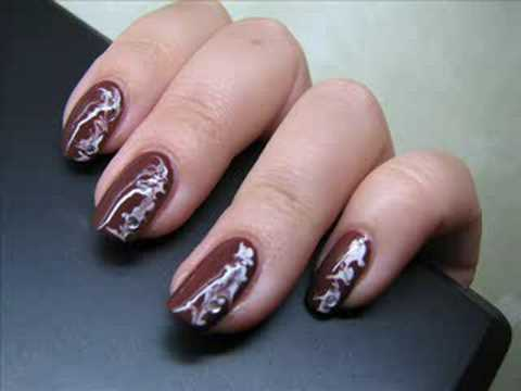 Brown nail art designs choice image nail art and nail design ideas 55 stylish brown nail art ideas brown glossy nails with white design idea prinsesfo choice image prinsesfo Image collections