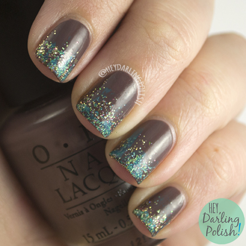55 stylish brown nail art ideas brown nails with blue gradient glitter design nail art prinsesfo Image collections