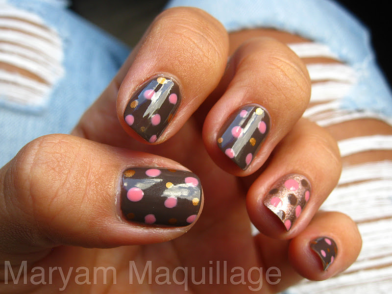 Nail designs with pink and brown pin by jessica parr on nails view images most beautiful brown nail art ideas prinsesfo Image collections