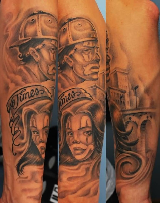 Gangsta Tattoo Designs For Men