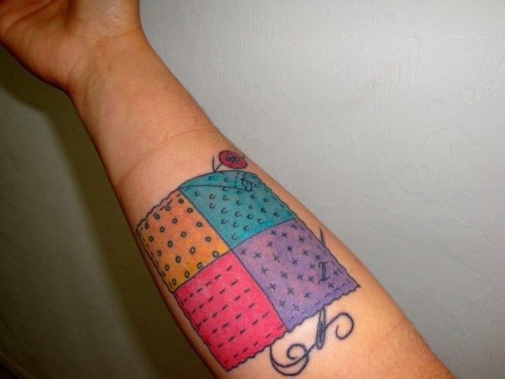 14+ Unique Quilting Tattoos Ideas : temporary quilt tattoos - Adamdwight.com