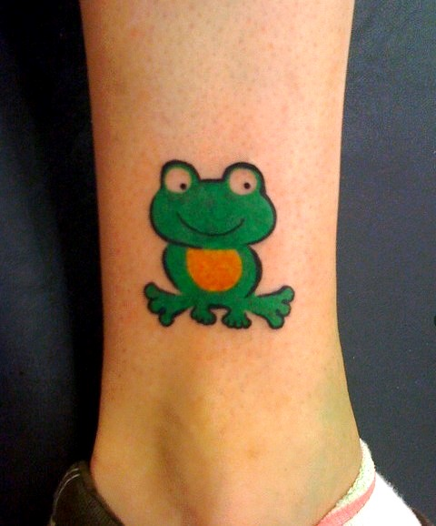 cartoon frog tattoos pictures to pin on pinterest tattooskid. Black Bedroom Furniture Sets. Home Design Ideas
